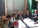 Visite des Restos du Coeur par la Ministre de la Santé Agnès Buzyn
